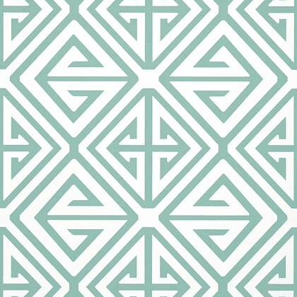 Thibaut Demetrius Wallpaper in Aqua
