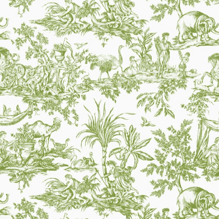 Anna French Antilles Toile Cotton in Green