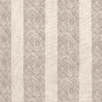 Anna French Clipperton Stripe Linen in Brown on Natural