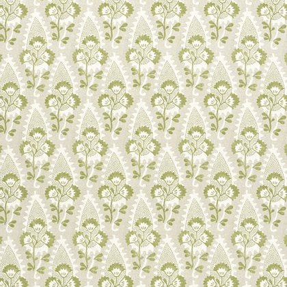 Anna French Cornwall Linen in Green and Beige