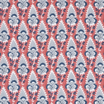 Anna French Cornwall Linen in Red and Blue