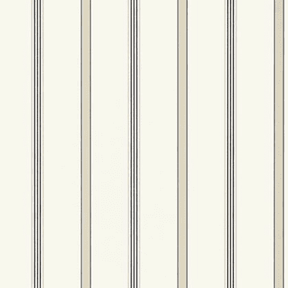Anna French Dawson Stripe Wallpaper in Charcoal and Linen
