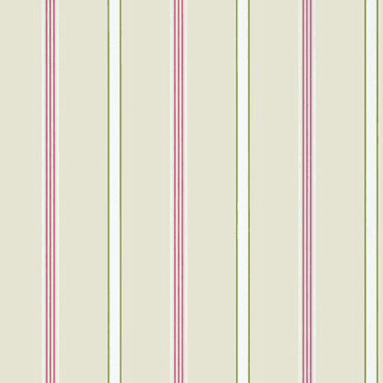Anna French Dawson Stripe Wallpaper in Pink and Green