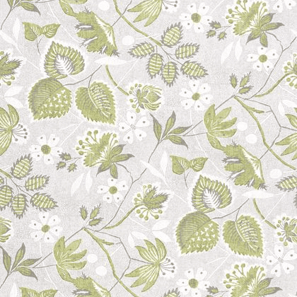 Anna French Indienne Hazel Linen in Green and Beige