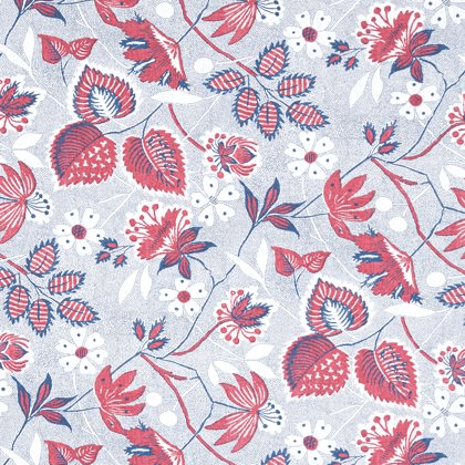 Anna French Indienne Hazel Linen in Red and Blue