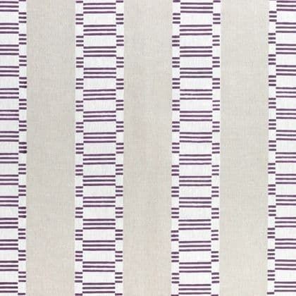Anna French Japonic Stripe Linen in Eggplant