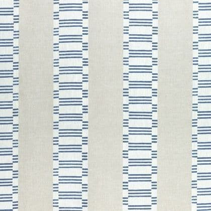 Anna French Japonic Stripe Linen in Navy