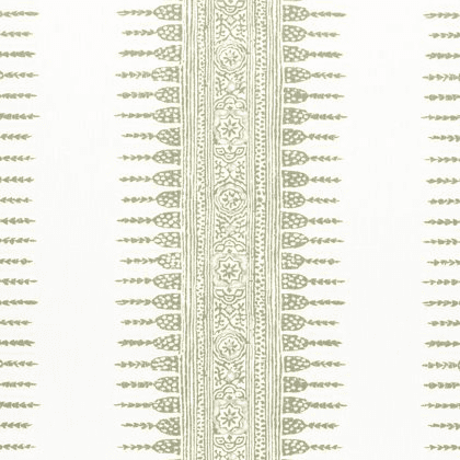 Anna French Javanese Stripe in Green and White