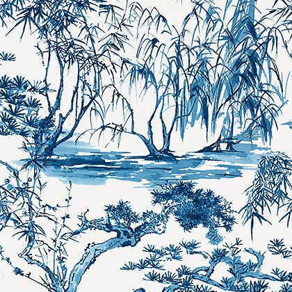 Anna French Kyoto Wallpaper in Navy