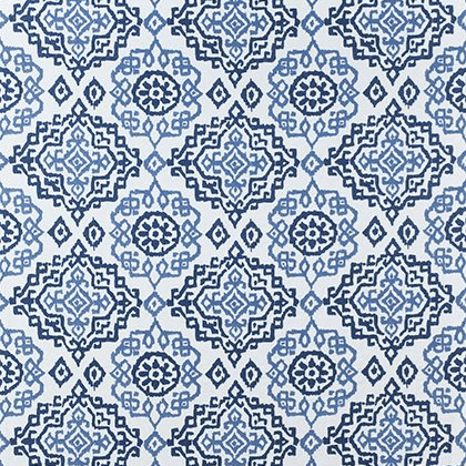 Anna French Scottsdale Embroidery in Blue and White
