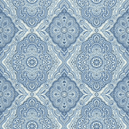 Anna French Sterling Wallpaper in Blue and White