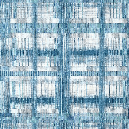 Anna French Takao Weave  Wallpaper in Navy