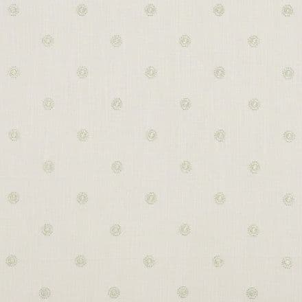 Clarke and Clarke Esta Fabric in Champagne/Linen