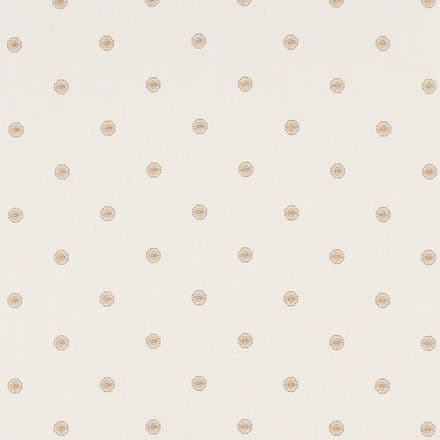 Clarke and Clarke Esta Fabric in Gold/Ivory