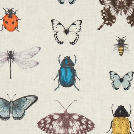 Clarke and Clarke Papilio in Mineral/Linen