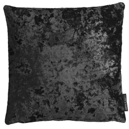 Clarke & Clarke Crush Cushion in Charcoal