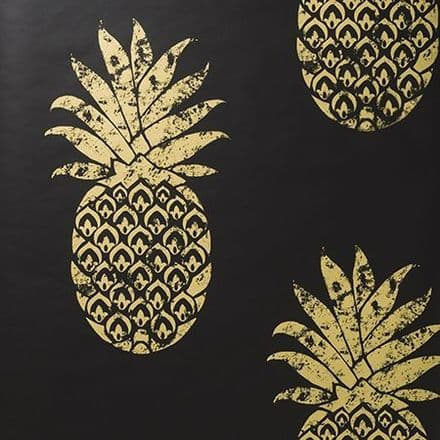 Clarke & Clarke Tobago Wallpaper in Ebony