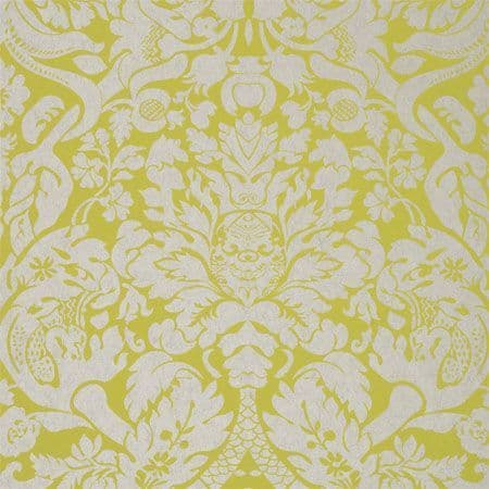Clarke & Clarke Valentina Wallpaper in Citron