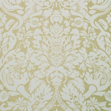Clarke & Clarke Valentina Wallpaper in Gold