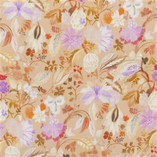 Designers Guild Giradon Fabric in Coral Remnant