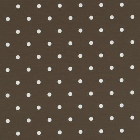 Dotty Chocolate Oilcloth.