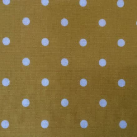 Full Stop Oilcloth in Mustard