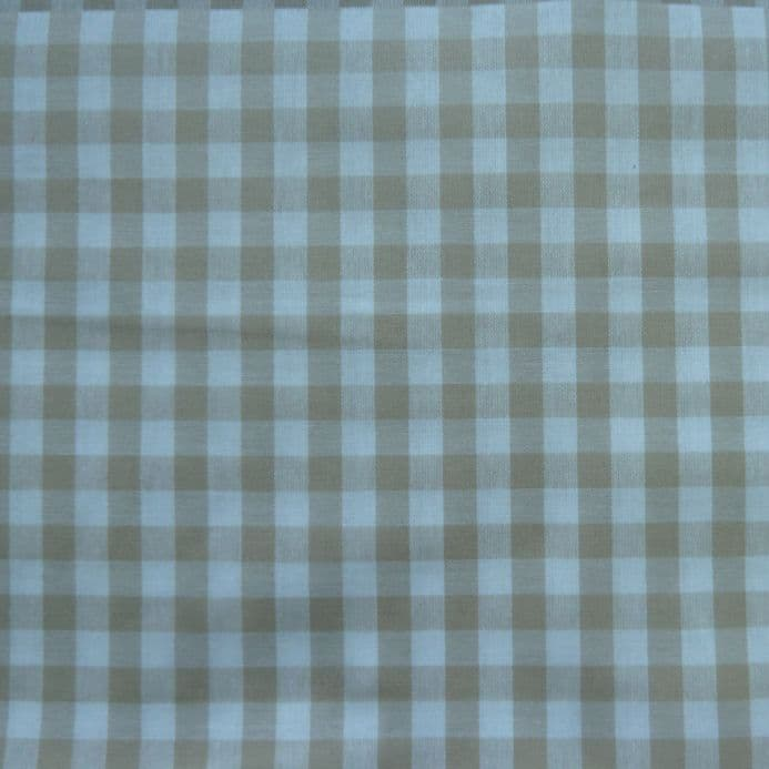Gingham  Check  Extra Wide Oilcloth in Natural