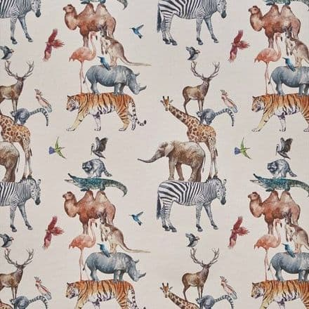 Prestigious Animal Tower Wallpaper in Rainbow