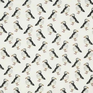 Puffin Oilcloth in Black