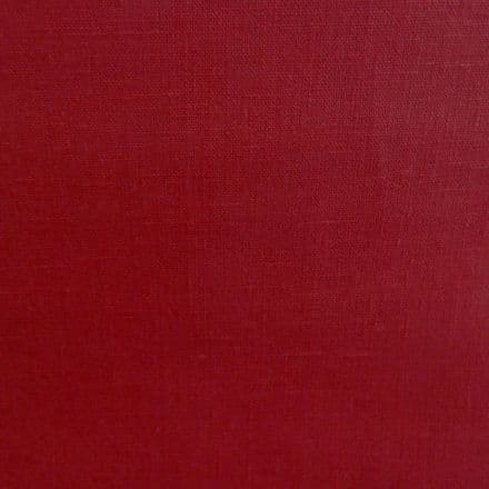 Red Linen Extra Wide Oilcloth.