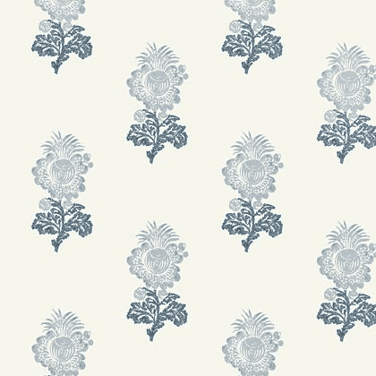 Thibaut Aldith Wallpaper in Blue