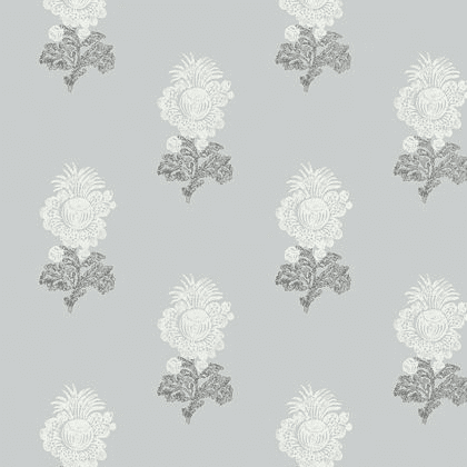 Thibaut Aldith Wallpaper in Grey