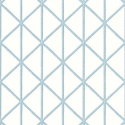 Thibaut Box Kite  Wallpaper in Spa Blue