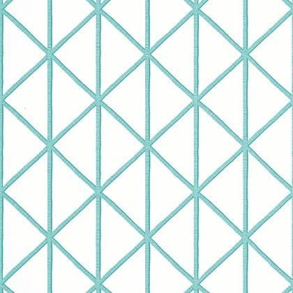 Thibaut Box Kite  Wallpaper in Turquoise