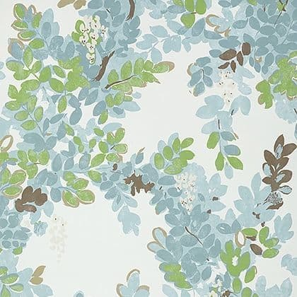 Thibaut Central Park Wallpaper in Spa Blue