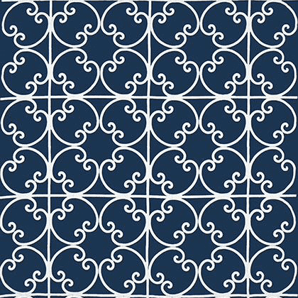 Thibaut Cernobbia Embroidery in Navy