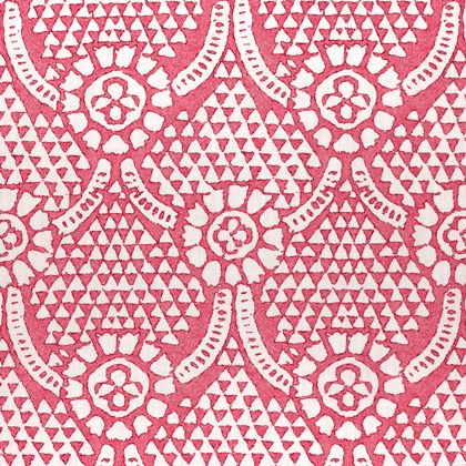 Thibaut Chamomile Fabric in Pink