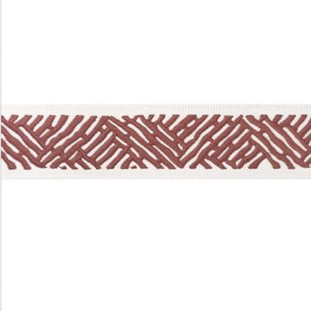 Thibaut Cobble Hill Tape in  Cranberry