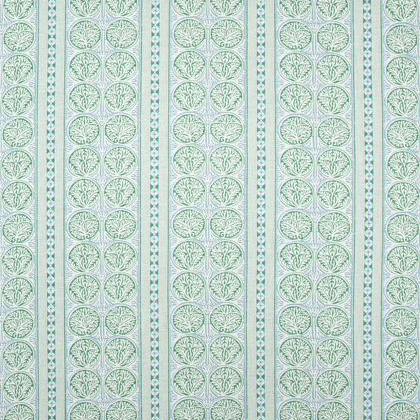 Thibaut Fair Isle Fabric in Green and Blue
