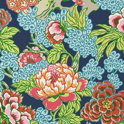 Thibaut Honshu Wallpaper in Navy