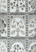 Thibaut Indian Panel Linen in Black and White