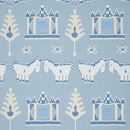 Thibaut Kingdom Parade Wallpaper in Spa Blue