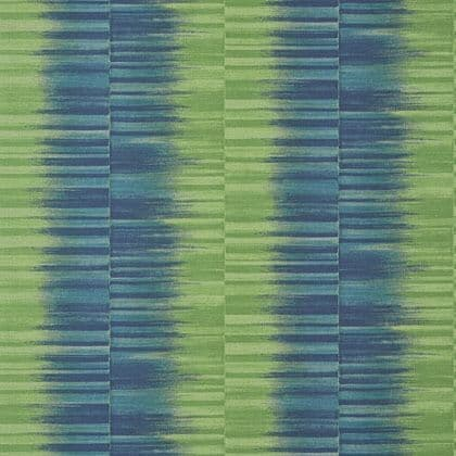 Thibaut Mekong Stripe Wallpaper in Green and Blue