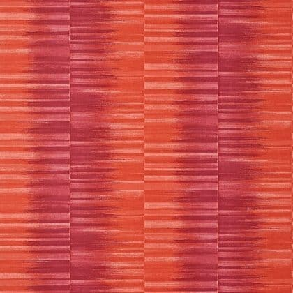 Thibaut Mekong Stripe  Wallpaper in Pink and Coral