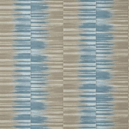 Thibaut Mekong Stripe Wallpaper in Spa Blue and Beige