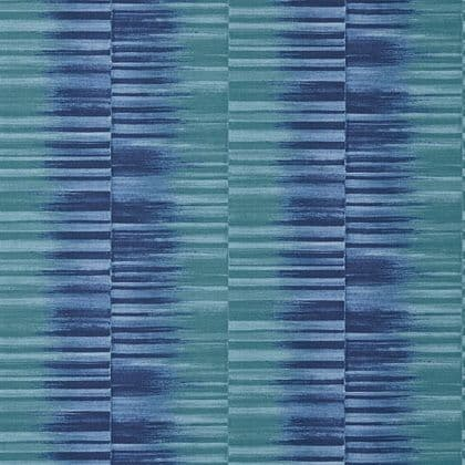Thibaut Mekong Stripe Wallpaper in Turquoise and Navy