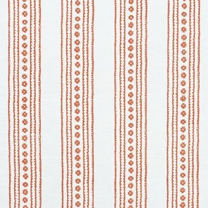 Thibaut New Haven Stripe Linen in Coral