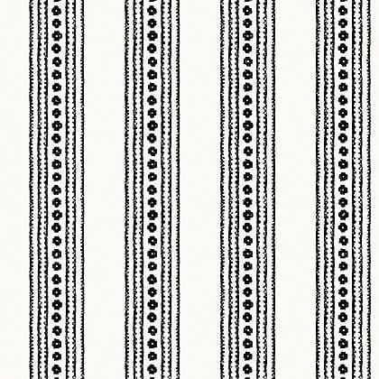 Thibaut New Haven Stripe Wallpaper in Black