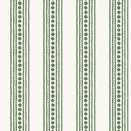 Thibaut New Haven Stripe Wallpaper in Green