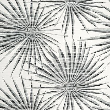 Thibaut Palm Frond Wallpaper in Black and White